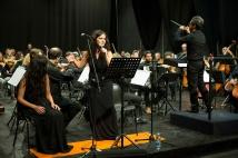 """Omaggio a Edith Piaf. Orchestra Sinfonica ICO """"Tito Schipa"""" di Lecce. Conductor - Arrangement: Alfonso Girado. Accordion: Rocco Nigro. Voices: Serena Spedicato, Rachele Andrioli"""